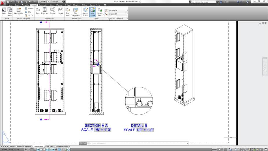 autocad 2013 section and details view large AutoCad 2013 v&agrave; nhng im mi &aacute;ng ch&uacute; &yacute;