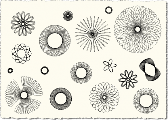Spiro Various Spirographs in AutoCAD