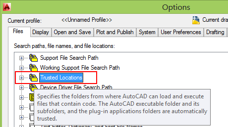 AutoCAD 2014 Options Files