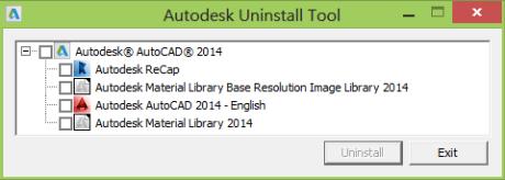 Autodesk ferramenta de desinstalação