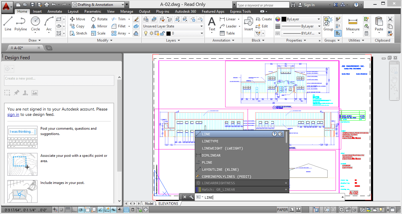 AutoCAD 2014 screenshot