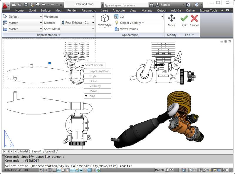 autocad ws with access directly from the autocad 2012 interface