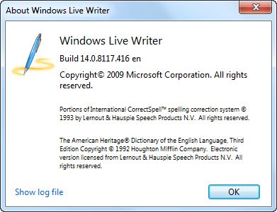 Windows Live Writer 14.0.8117.416