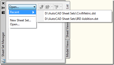 JTB World Blog: Clear sticky Sheet Sets from Recent Documents List